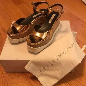 Stella McCartney Elyse Star sandal, bronze. Sz 40